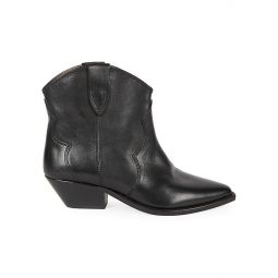 Dewina Western Leather Ankle Boots