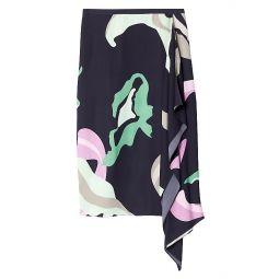 Ant Farm-Print Asymmetric Skirt