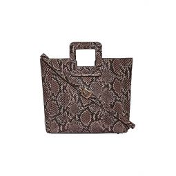 Shirley Snakeskin-Embossed Leather Tote