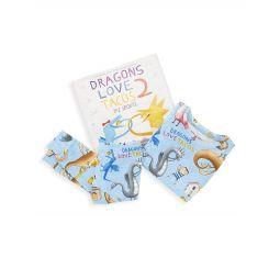 Little Boys Dragons Love Tacos 3-Piece Pajama & Book Set