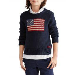 Boys Crewneck Flag Sweater