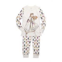 Disneys Frozen 2 Little Girls & Girls Anna Cotton Pajama Set