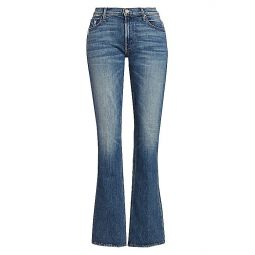 The Runaway High-Rise Bootcut Distressed Jeans