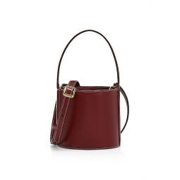 Mini Bissett Leather Bucket Bag
