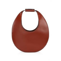 Large Moon Leather Hobo Bag
