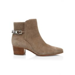 Carissa C-Chain Suede Ankle Boots
