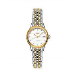 Flagship Two-Tone & Diamond Bracelet Watch
