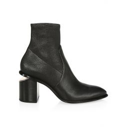 Anna Rose Gold & Stretch-Leather Sock Boots