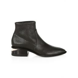 Kori Rose Gold & Stretch-Leather Sock Boots