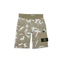 Little Boys & Boys Camo Fleece Shorts