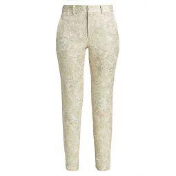 Flower Jacquard Pants