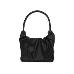 Felix Ruched Leather Top Handle Bag