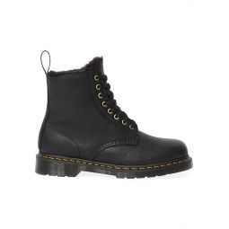 1460 Pascal Faux Fur-Lined Leather Combat Boots