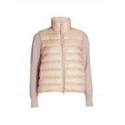 Short Down Knit Combo Jacket