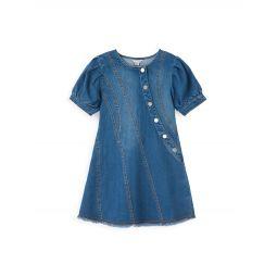 Babys & Little Girls Button Trim A-line Dress