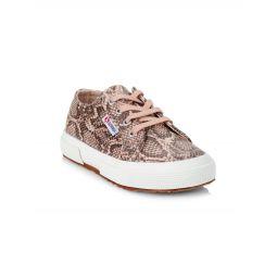 Girls 2750 Snake-Print Low-Top Platform Sneakers