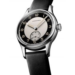 Longines Heritage Automatic Stainless Steel Leather-Strap Watch