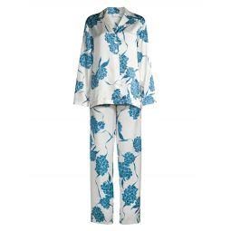Hydrangea 2-Piece Long Pajama Set