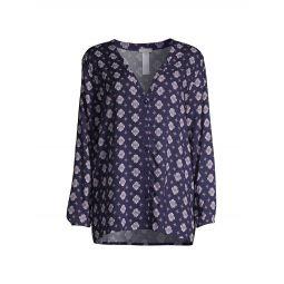 Woven Long-Sleeve Pajama Shirt