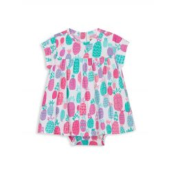 Baby Girls Pineapple Doodles One-Piece Dress