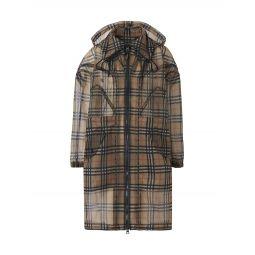 Sheer Plaid Coat
