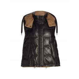 Padded Leather Reversible Vest