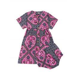 Baby Girls Medallion Print Dress & Bloomers Set