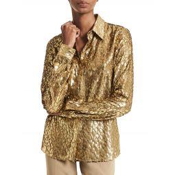 Hansen Metallic Jacquard Shirt