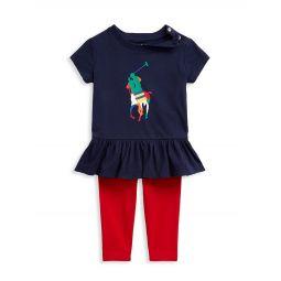 Baby Girls 2-Piece T-Shirt & Legging Set