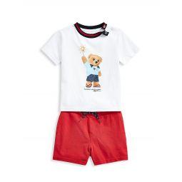 Baby Boys 2-Piece Polo Bear T-Shirt & Short Set