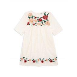 Little Girls & Girls Desert Flower Colette Embroidered Cotton Dress