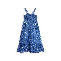 Little Girls & Girls Floral & Check Smocked Dress