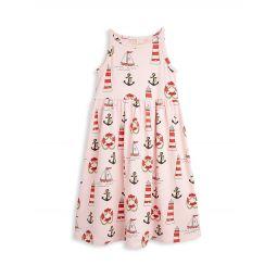 Little Girls & Girls Lighthouse Organic Cotton Dress