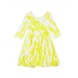 Little Girls & Girls You Are My Sunshine Twirl Tie-Dye Dress
