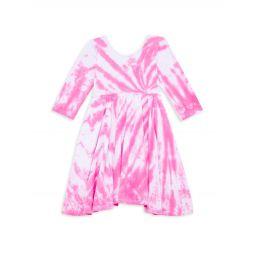 Little Girls & Girls Love Tie-Dye Twirl Dress