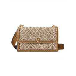 T Monogram Jacquard Crossbody Bag