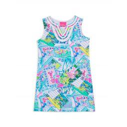 Little Girls & Girls Harper Neon Shift Dress