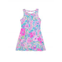 Girls Neon Floral Carice Dress