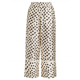 2 Moncler 1952 Polka Dot Silk-Blend Pants
