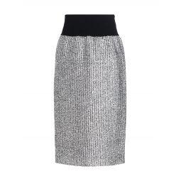 2 Moncler 1952 Metallic Rib-Knit Skirt