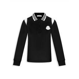 Little Boys & Boys Long-Sleeve Logo Polo Shirt