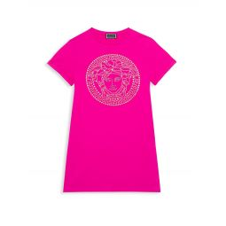 Little Girls & Girls Embellished Logo Dress