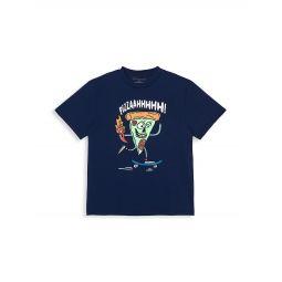 Little Boys & Boys Pizza Skater T-Shirt