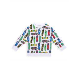 Little Boys & Boys All Over Skateboards Sweatshirt