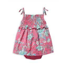 Baby Girls & Little Girls Floral Bubble Bodysuit