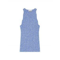 Daphne Melange Rib-Knit Tank Top