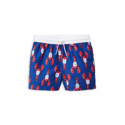 Babys,Little Boys & Boys Lobster-Print Swim Shorts