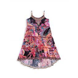Little Girls & Girls Mayfair Mary Floral-Print High-Low Dress