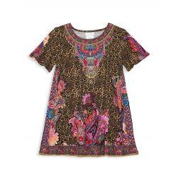 Little Girls & Girls Mayfair Mary Cheetah-Print T-Shirt Dress