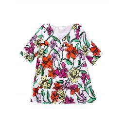 Little Girls & Girls Floral-Print Cotton Dress